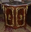 Very fine, French, Louis XV period encoinure (corner cabinet)