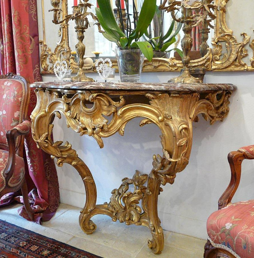 Very Fine, French, Early Louis XV Period console table