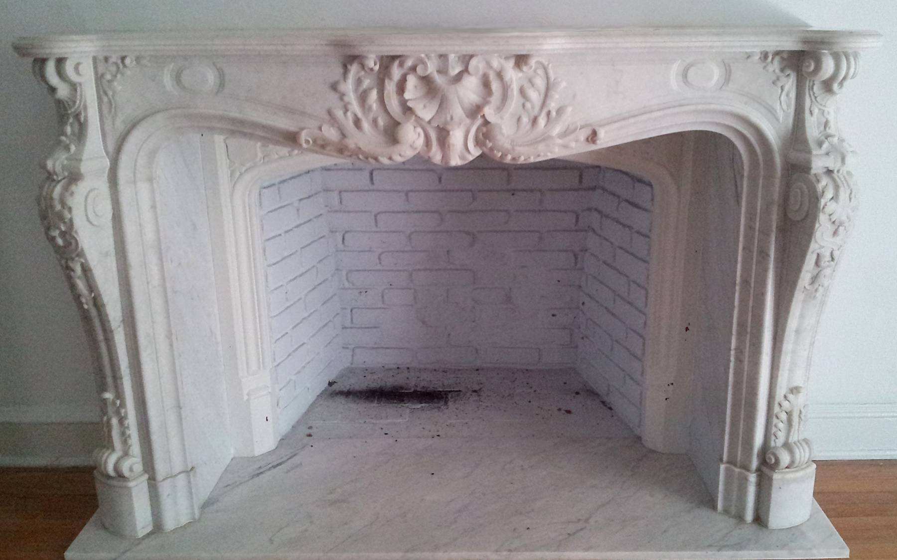 French, Louis XV style fireplace surround