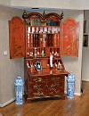 English, George I style, chinoiserie, fall-front secretary