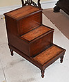 Set of fine, English Regency period library steps