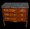 Fine, French, Louis XV-XVI Transition period parquetry commode