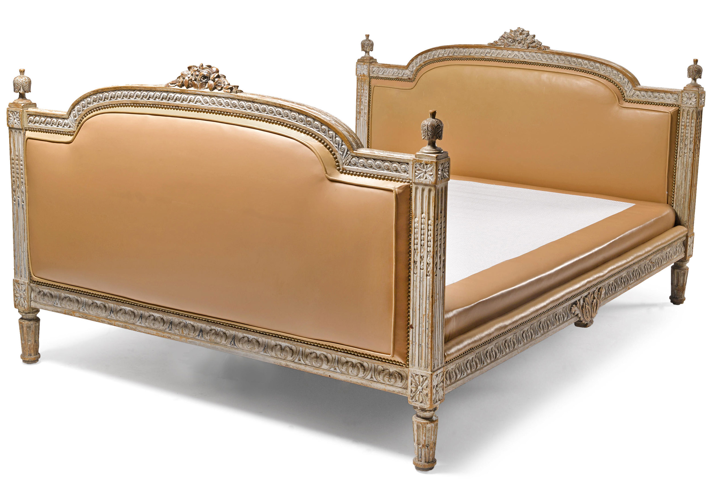 Very fine, French, Louis XVI period painted bed