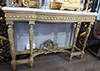 Fine, French, Louis XVI style crème painted console table