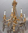 Fine, French, Louis XVI style, bronze d'ore chandelier