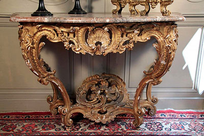 Very fine, French, early Louis XV period console