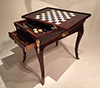Rare, French, Regence period, gilt-bronze mounted game table (tric-trac table)