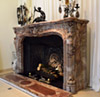 Exceptional, Louis XV style marble fireplace surround