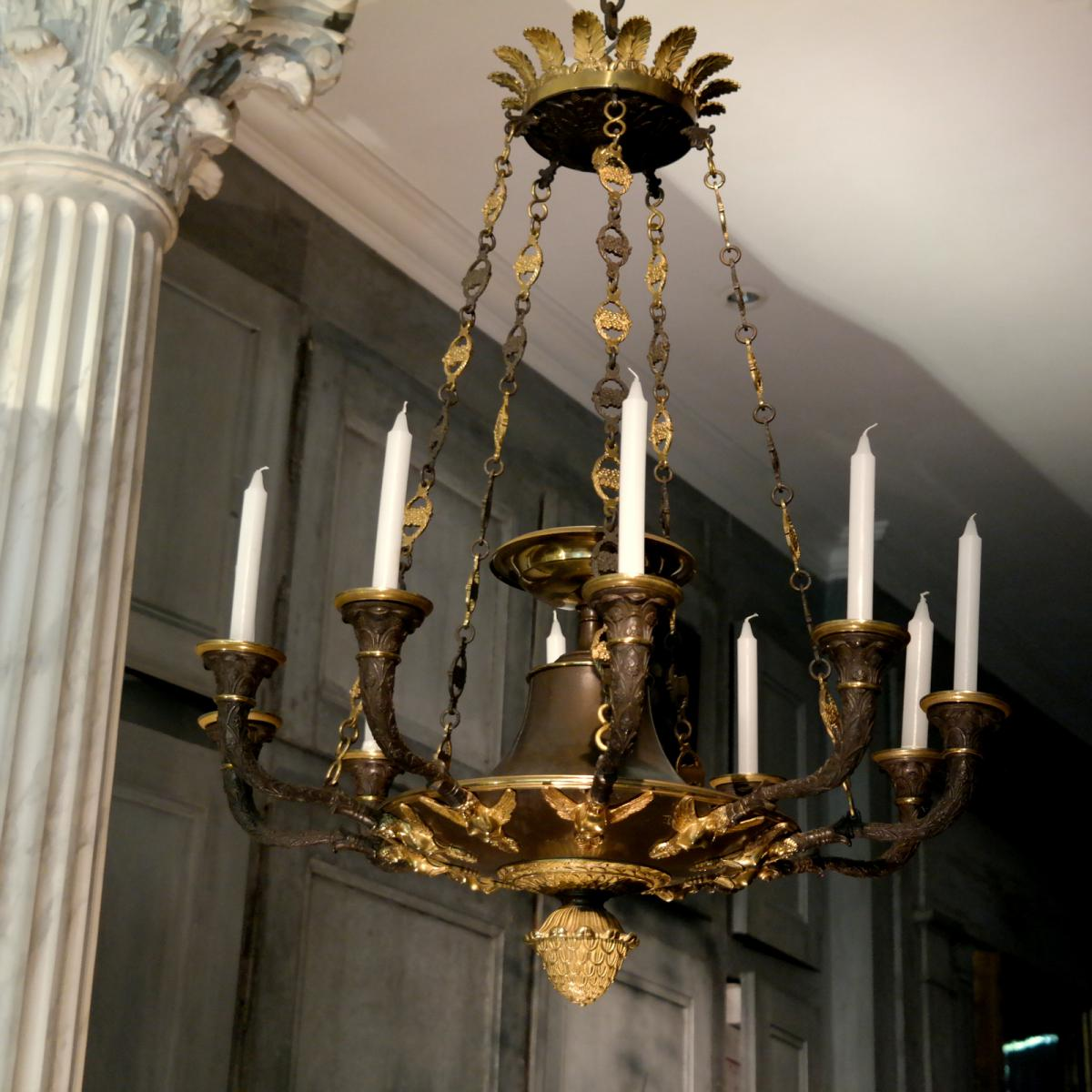 Very fine, Empire period chandelier
