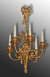 French, Louis XVI style, bronze d'ore chandelier of diminutive proportion
