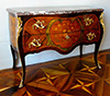 French, Louis XV period, floral marquetry inlaid commode