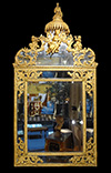 French, Louis XIV period giltwood mirror