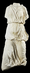 Hellenistic style, marble sculpture fragment of Nike