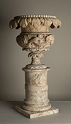 Italian, neoclassical style, alabaster pedestal