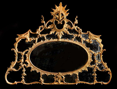 English, Chippendale period overmantle mirror