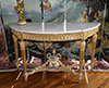 French, Louis XVI period demi-lune console