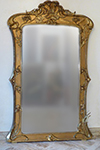 French, Art Nouveau period, giltwood and composition mirror