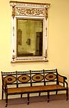Italian, Neoclassical (Retour d'Egypt), carved and painted giltwood mirror