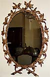 English, George III period, gilded oval mirror