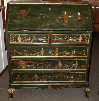 Louis XV style, chinoiserie commode scriban