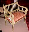 French, Louis XVI style, painted vanity chair