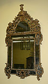 French, Regence period, carved, giltwood mirror
