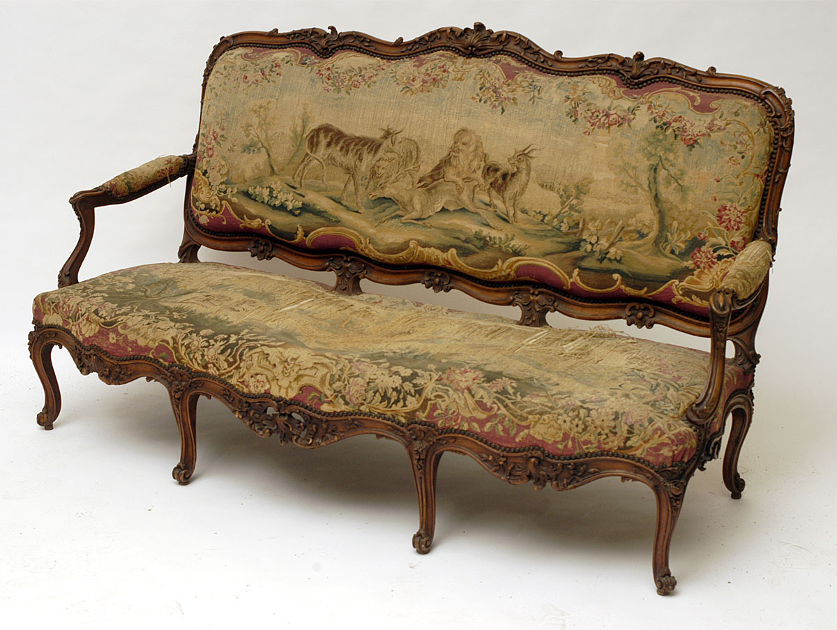 French louis xv style canap for Louis xv canape sofa