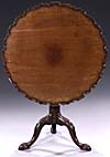 George III style, carved mahogany, tilt-top table