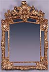 Regence period, carved giltwood mirror