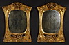 Rare pair of Art Nouveau period, carved, giltwood mirrors