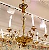 Viennese, Biedermeier period, giltwood, six-light chandelier