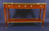 Louis XVI period, brass mounted, walnut and kingwood console desserte