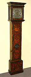 William and Mary, floral marquetry inlaid, tall case clock