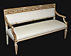 Italian, Neoclassical, cr�me painted and parcel-gilt settee