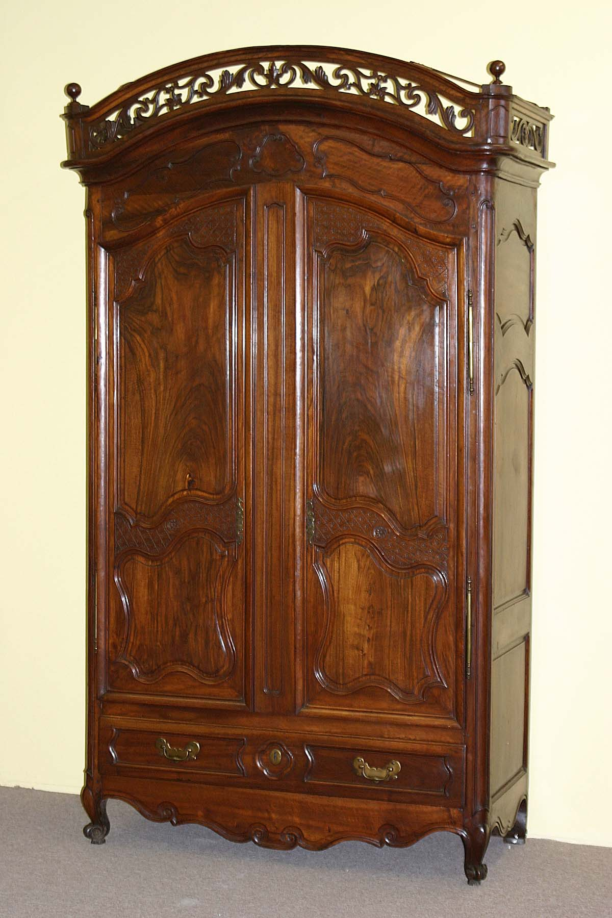 louis xv period marriage armoire. Black Bedroom Furniture Sets. Home Design Ideas