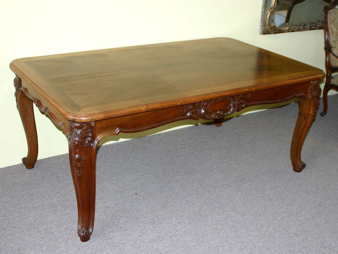 French louis xv style extension dining table - Table louis xv ...