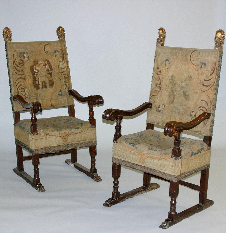 Pair Of Italian Renaissance Period Armchairs