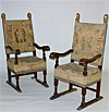 Pair of Italian, Renaissance period armchairs