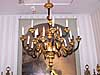 French Restauration style, bronze d'ore and patinated bronze, twenty-two light chandelier