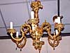 French, Louis XIV style, bronze d'ore, six-arm chandelier