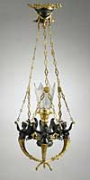 Empire Style, Patinated and gilt-bronze chandelier
