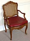 French, early Louis XV period fauteuil
