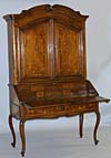 Italian, Louis XV period, inlaid secretary
