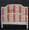 French, Louis XVI period, crème-painted bed