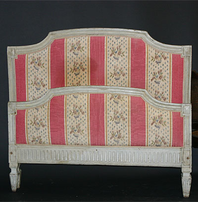 Antique French  on Antique  French  Louis Xvi Period  Cr  Me Painted Bed