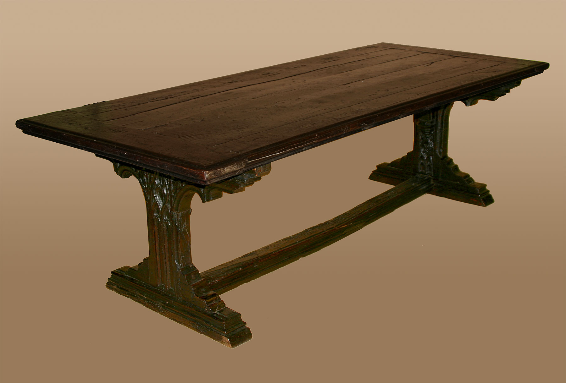 Rare Northern European Gothic Period Refectory Table