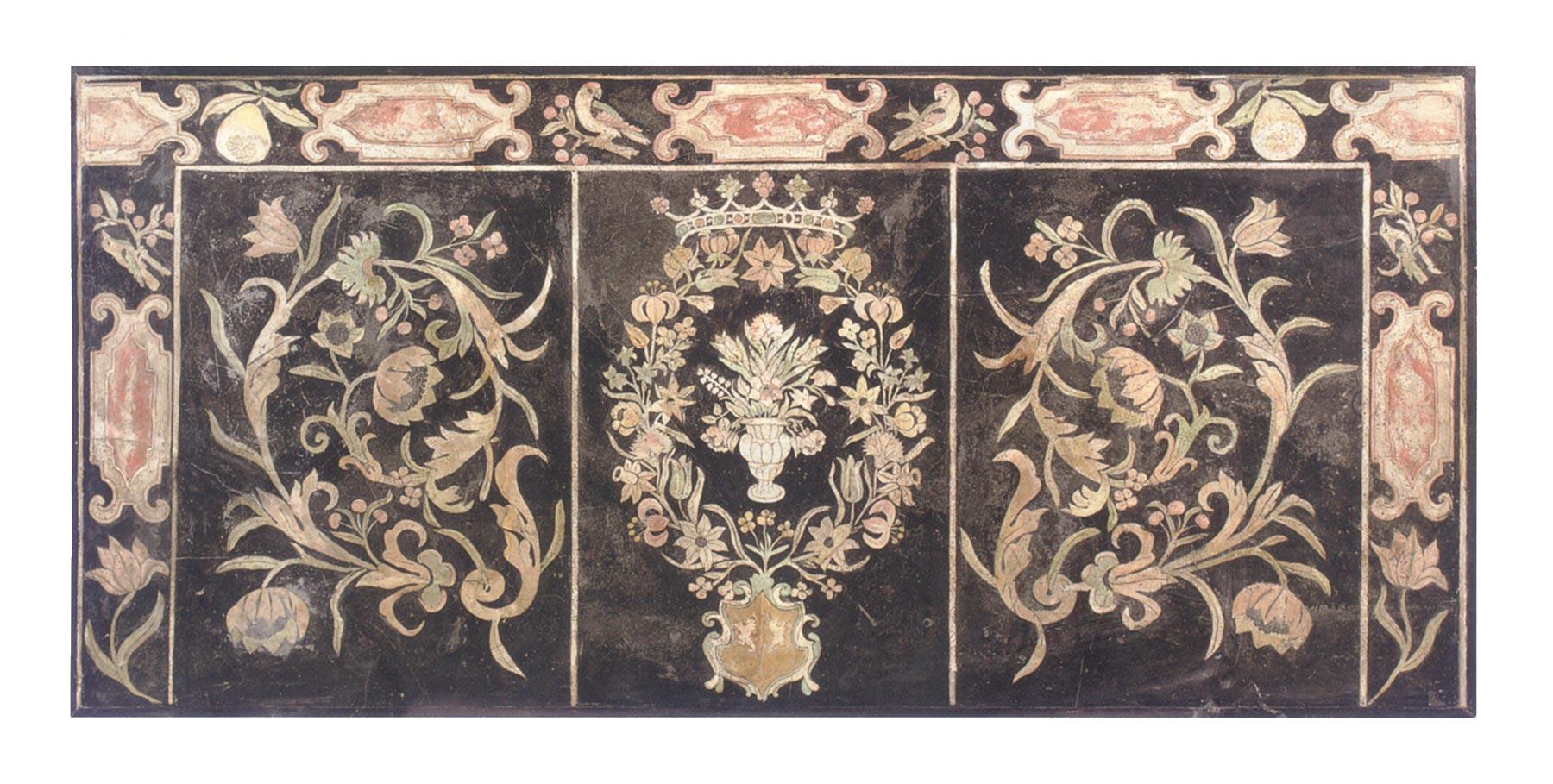 italian baroque period scagliola panel