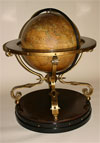 French globe of large dimensions on ebonized and gilded metal stand