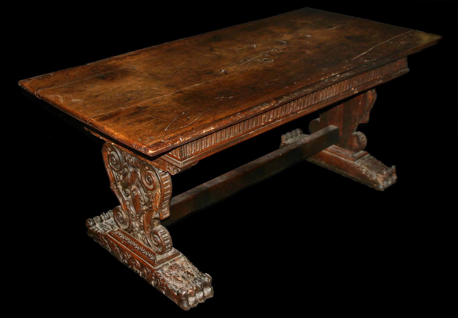 Italian Renaissance Period Walnut Refectory Table