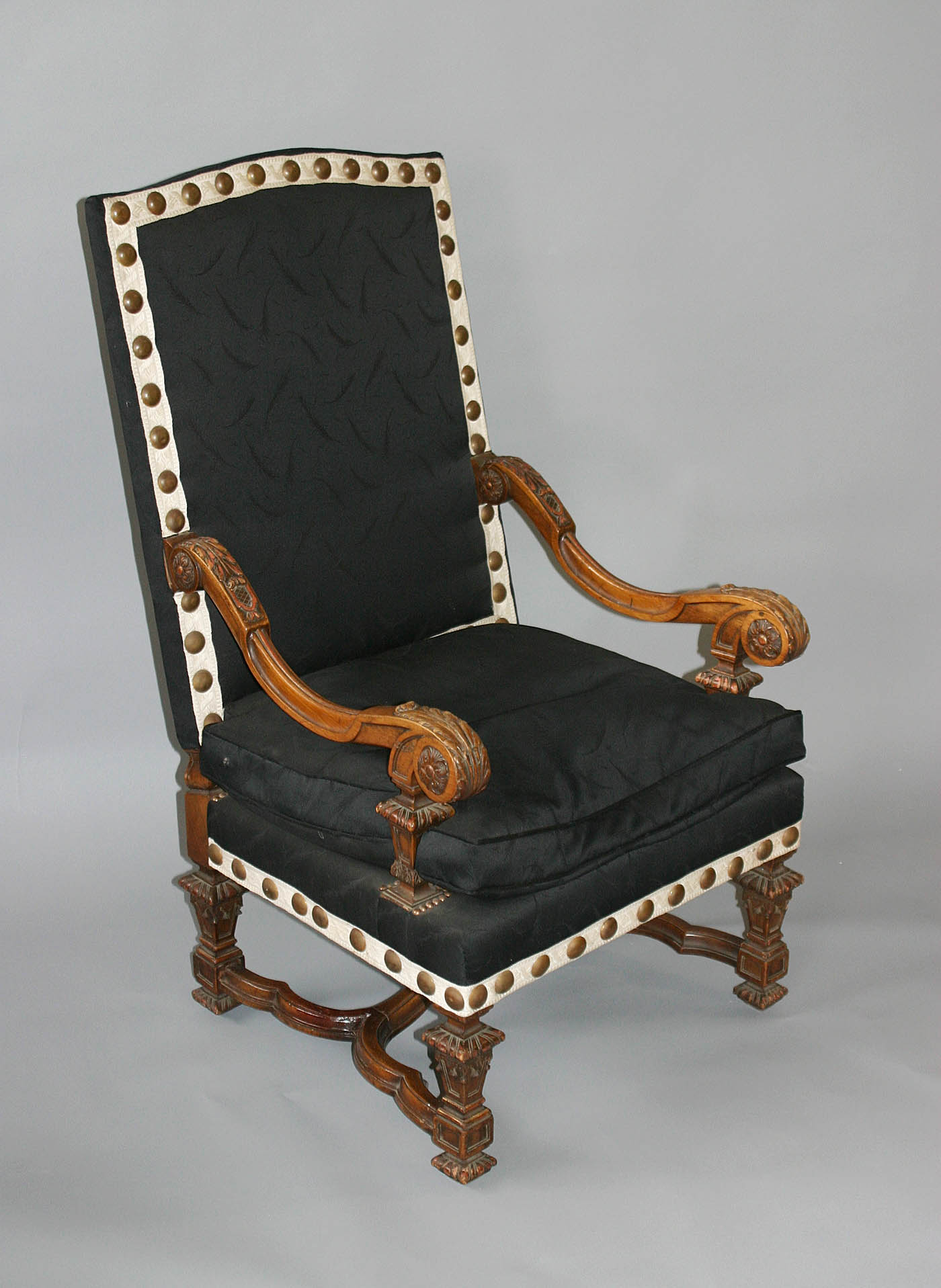 pair of french louis xiv style fauteuils a la reine. Black Bedroom Furniture Sets. Home Design Ideas